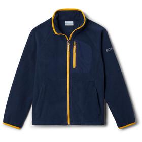 Columbia Fast Trek III Fleece Jas met Doorlopende Rits Jongeren, blauw/geel